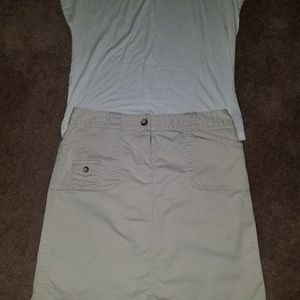 Ann Taylor Kaki Skirt